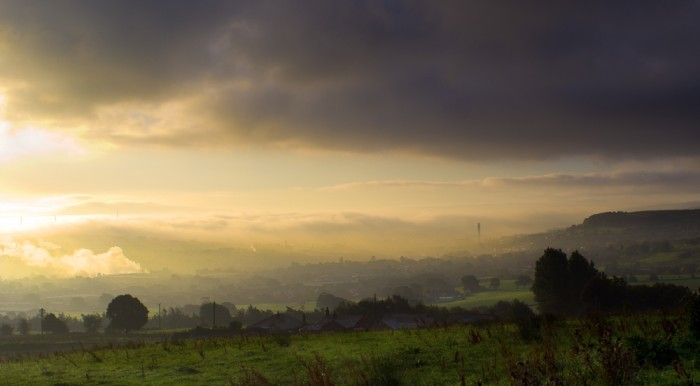 Dawn over Darwen