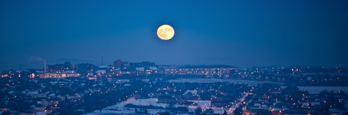 moonrise over blackburn